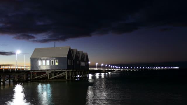 busselton jetty, western australia - jetty stock videos & royalty-free footage