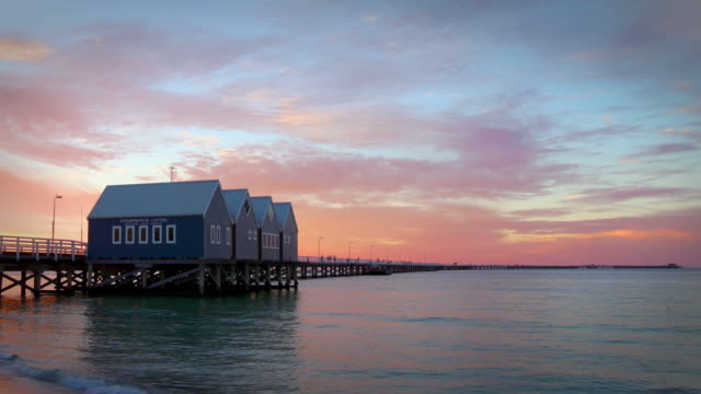 busselton jetty, western australia - jetty stock videos & royalty-free footage