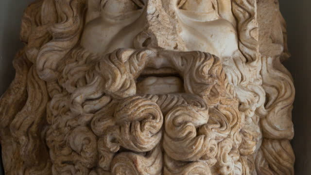bust of jupiter in bardo museum - tunisia stock videos & royalty-free footage