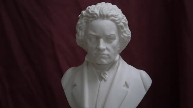 bust of ludwig van beethoven on turning table - anniversary stock videos & royalty-free footage