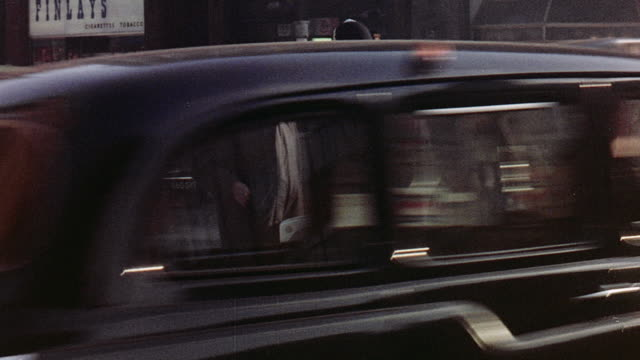 1970 montage bustling city life of london / london, england, united kingdom - billboard stock videos & royalty-free footage