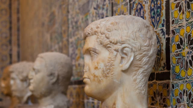 Busts in Bardo Museum