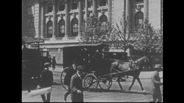 busy 1900s new york street - 19th century style stock videos & royalty-free footage