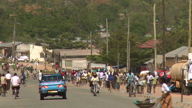busy african street