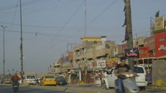 busy baghdad street, wide-shot - baghdad stock videos & royalty-free footage