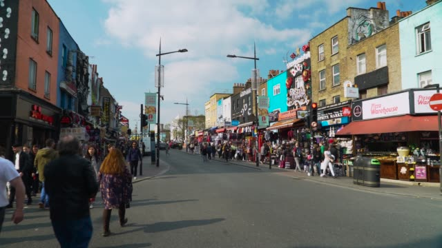 busy camden high st, london - crossing stock videos & royalty-free footage