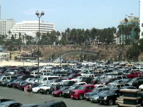 Busy Car Parking Lot: Looking for a Space -Time Lapse-