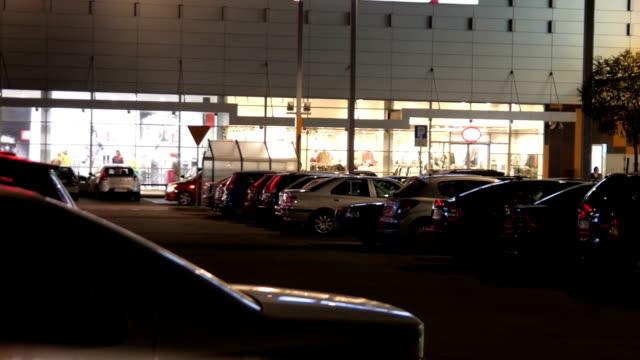 Belebten Parkplatz-timelapse