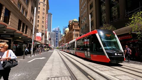 busy city street, people, transport, covid-19 economic recovery, time lapse, sydney - public transport stock videos & royalty-free footage