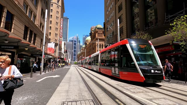 busy city street, people, transport, covid-19 economic recovery, time lapse, sydney - public transportation stock videos & royalty-free footage