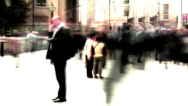 busy city street time-lapse. hd - incidental people stock videos & royalty-free footage