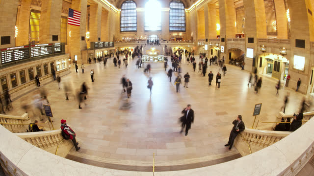 Busy commuters make their way through the terminal at Grand Central Station in New York City.