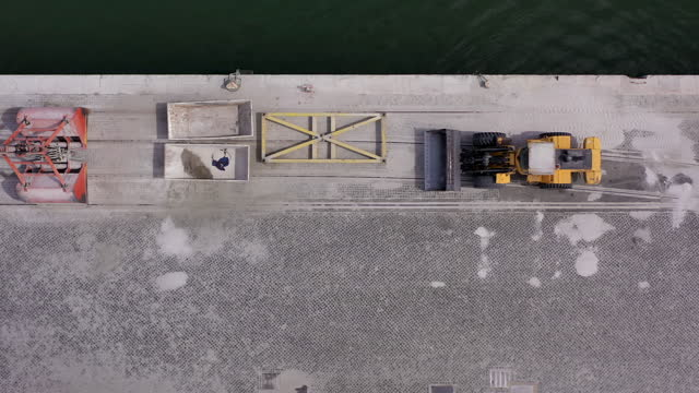 busy container yard from above, high contrast colors - high contrast stock videos & royalty-free footage