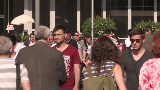 Busy Crosswalk in Ankara, Turkey