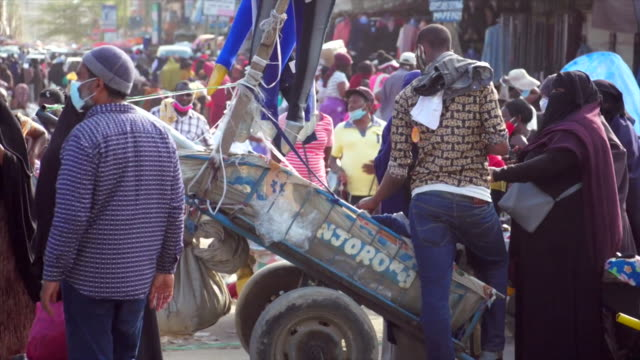 """busy crowded streets in nairobi during the coronavirus crisis - """"bbc news"""" stock videos & royalty-free footage"""