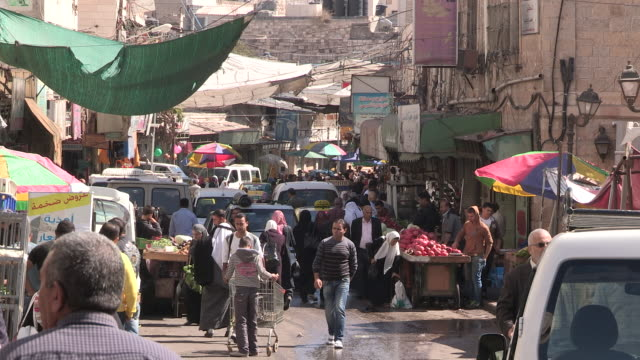 Busy Downtown, Hebron, Palestine