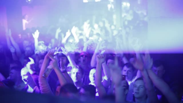 busy edm dance nightclub people dancing music club dj night rave crowd busy - dance music stock videos & royalty-free footage
