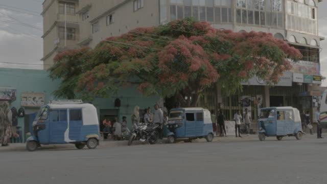 busy ethiopian street - horn von afrika stock-videos und b-roll-filmmaterial