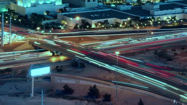 busy freeway at night, las vegas, nevada, united states - nevada stock videos & royalty-free footage