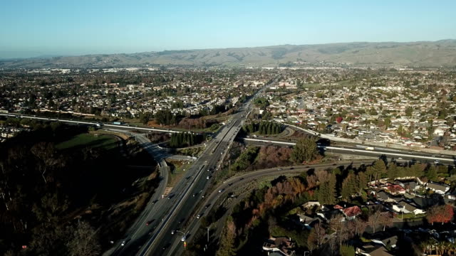 busy highway in northern california - northern california stock videos & royalty-free footage