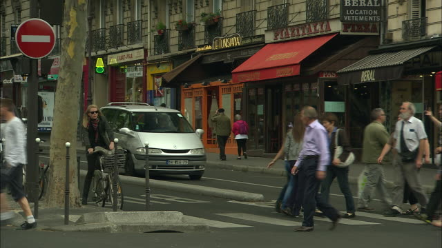 Busy Intersection in Montmartre, Paris, France