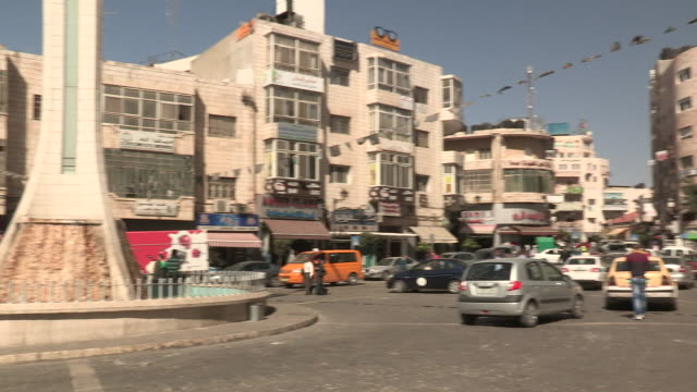busy intersection, ramallah, palestine - palestinian territories stock videos and b-roll footage