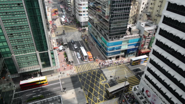 Busy Junction in Monh Kok, Hong Kong