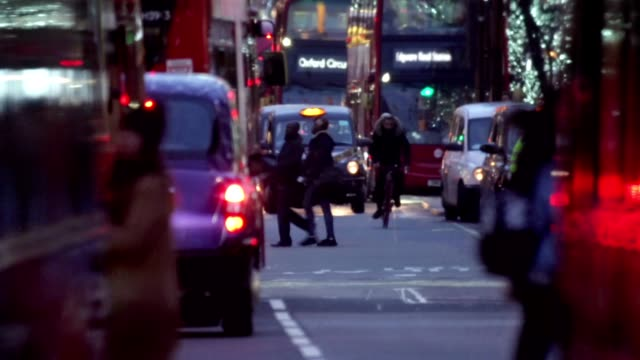 busy london street - crowded stock videos & royalty-free footage