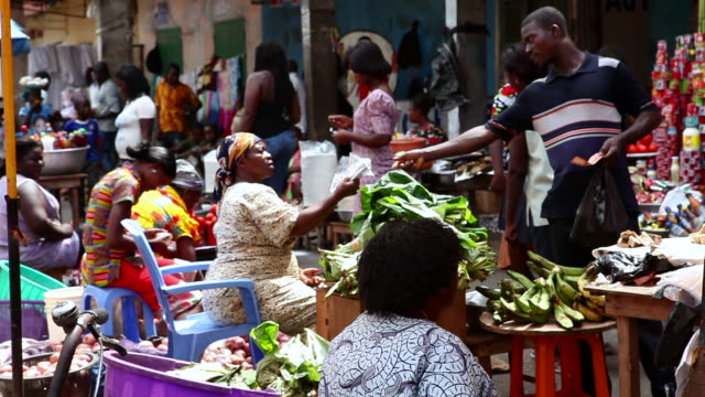 busy market in takoradi, ghana 2 - ghana stock videos & royalty-free footage