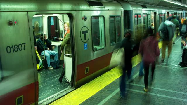 T/L A busy metro station / Boston