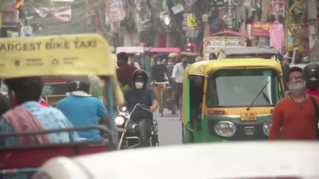 """busy mumbai streets during the coronavirus pandemic as india becomes the second worst hit country by the virus in the world - """"bbc news"""" stock videos & royalty-free footage"""