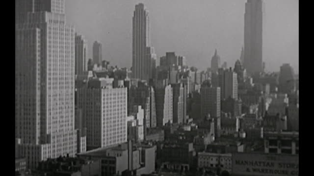 1959 busy new york city street scene - 1959 stock videos & royalty-free footage