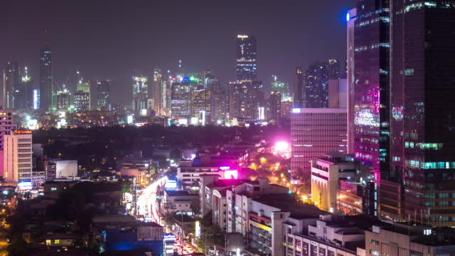 Busy Night in Manila - Time Lapse