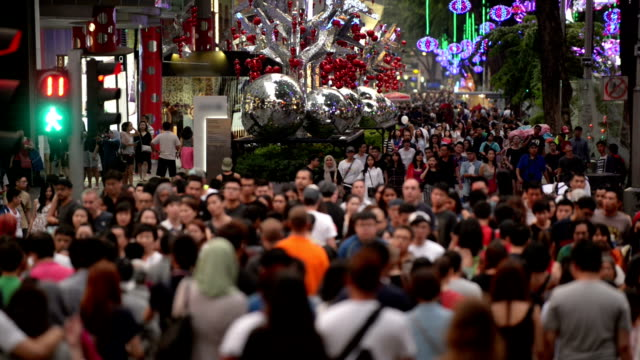 Busy Orchard Road During Christmas Festive Season