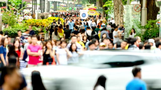 忙しい orchard road ,シンガポール - シンガポール点の映像素材/bロール