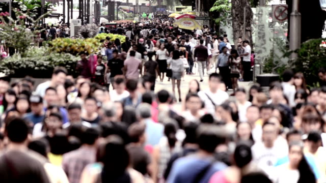 busy orchard road, singapore - asia stock videos & royalty-free footage