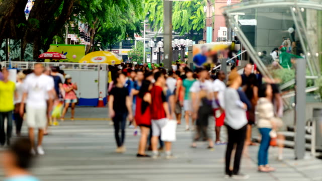 busy orchard road, singapore - personal land vehicle stock videos & royalty-free footage
