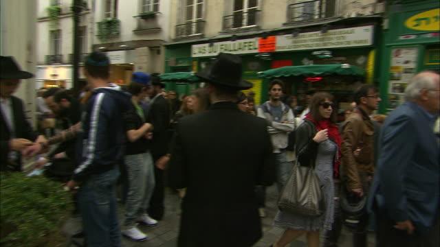 Busy Pedestrian Market in the Marais, Paris, France