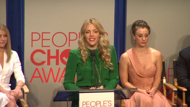 busy philipps at the people's choice awards 2012 nominations press conference - people's choice awards stock videos & royalty-free footage
