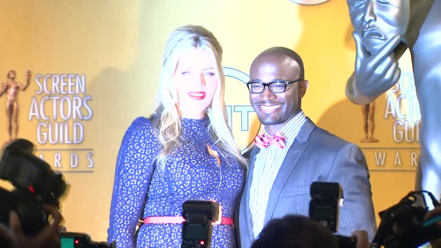 busy phillips taye diggs at the 19th annual screen actors guild award nominations busy phillips taye diggs at the 19th annual scre at pacific design... - pacific design center stock videos and b-roll footage