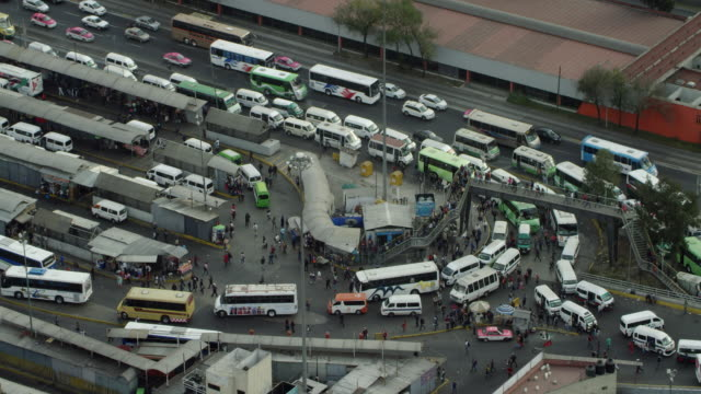 Busy Public Transportation Station In Mexico City