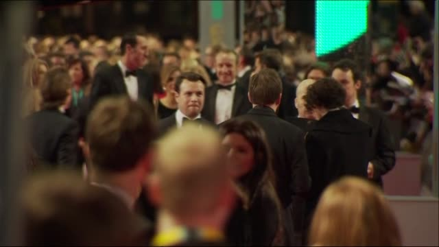 busy red carpet scenes at the baftas 2014 - 2014 stock videos & royalty-free footage