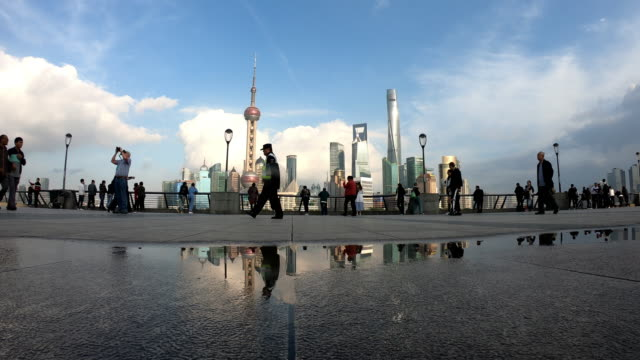 busy shanghai  bund - the bund stock videos & royalty-free footage