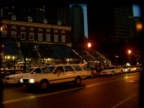 td, ms, pan, busy street at dusk / boston - boston massachusetts stock videos & royalty-free footage