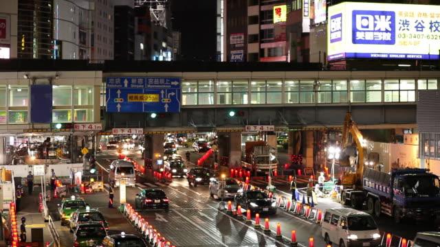 WS HA Busy street at night / Tokyo, Japan
