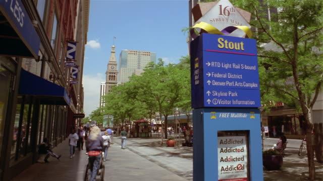 time laps busy street  denver  colorado  usa - denver stock videos and b-roll footage
