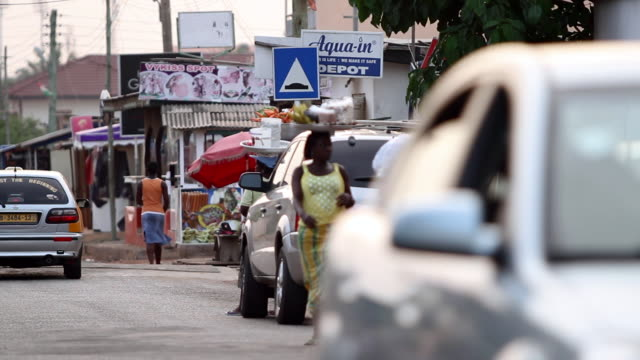 a busy street in accra, ghana - ghana stock videos & royalty-free footage