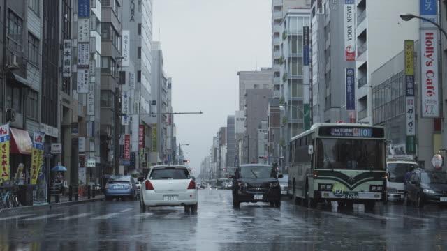 MS Busy street in rain, Kyoto, Japan
