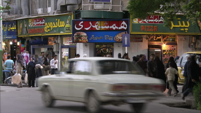 ws busy street, isfahan, iran - iran stock videos and b-roll footage