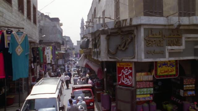 ms, pan, ha, busy street market, cairo, egypt - ギフトショップ点の映像素材/bロール